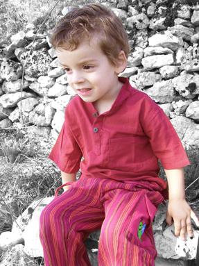 Pantalons rayés enfant