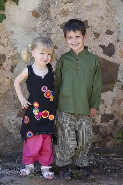 Afghan trouser for kids, baby, girl and boy